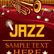 Jazz poster (jazz party poster, concert poster) — Vector de stock #26762801