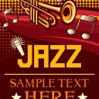 Jazz poster (jazz party poster, the concert poster) — Imagen vectorial