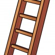 Royalty-Free Stock Vector Image: Illustration of a wooden ladder