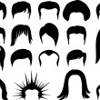 Hair style set for men — Stock Vector