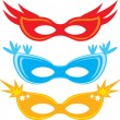 Vector carnival masks (masks for masquerade) — Stock Vector