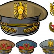 Stock Vector: Military hats