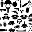 Stock Vector: Military icons