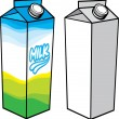 Stock Vector: Milk carton