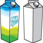 Süt kutusu — Stok Vektör