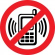 Vector no cell phone sign — Vettoriale Stock #26763261