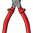 Red pliers — Stock Vector