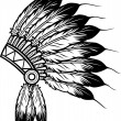 Native american indian chief headdress — Stok Vektör