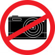 Stock Vector: No photography sign (no camersymbol)
