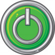 Stock Vector: Power button