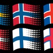 Scandinavian flags — Stock Vector