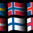 Scandinavian flags — Stock Vector #26763991