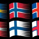 Scandinavian flags — Stock Vector #26763991