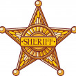 Stock Vector: Sheriff badge