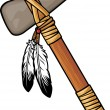 Native americtomahawk — Vector de stock #26764579