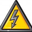 High voltage sign  — Stock vektor