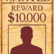 Vintage wanted poster — Stock Vector #26764881