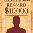 Vintage wanted poster — Stock Vector