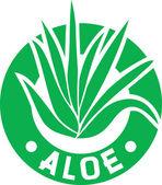 Aloe vera symbol — Stock Vector