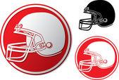 American football helmet icon — Stock Vector
