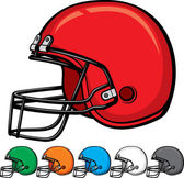 American football helmet collection — Stock Vector