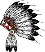 Native american indian chief headdress — Stock Vector