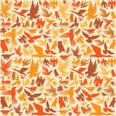 Decorative bird background — Stock Vector