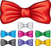 Bow ties collection — Stock Vector