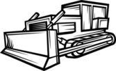 Bulldozer caterpillar construcción — Vector de stock