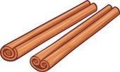 Illustration of cinnamon sticks — Stock Vector