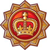 Crown badge — Stock Vector
