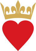 Heart with crown — Stock Vector