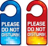 Please do not disturb vector sign set — Stock Vector