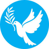 Dove of peace (peace dove, symbol of peace) — Wektor stockowy
