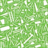 Backgroundd ferramentas de jardim (silhuetas de ferramentas de jardim, jardim ferramentas textura abstrata) — Vetor de Stock