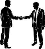 Businessmen shaking hands — Wektor stockowy