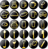 Kitchen icons set — Stock Vector