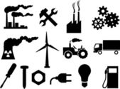 Industry icons collection — Stock Vector