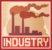 Industry poster - industrial plant — Stock Vector
