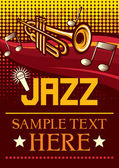 Jazz poster (jazz party poster, the concert poster) — Stock Vector
