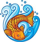 Koi fish — Stock Vector