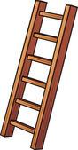 Illustration of a wooden ladder — Stock Vector
