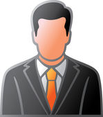 User icon of man in business suit — Stock Vector