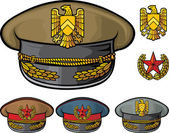 Military hats — Stok Vektör