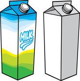 Caixa de leite — Vetorial Stock