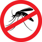 Stop mosquito sign — Stock Vector