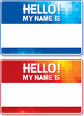 Hello my name is card — Stock Vector