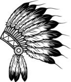 Native american indian chief headdress — Stock Vector