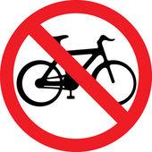 No bicycle sign (no bikes symbol) — Stock Vector