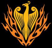 Phoenix bird — Stok Vektör